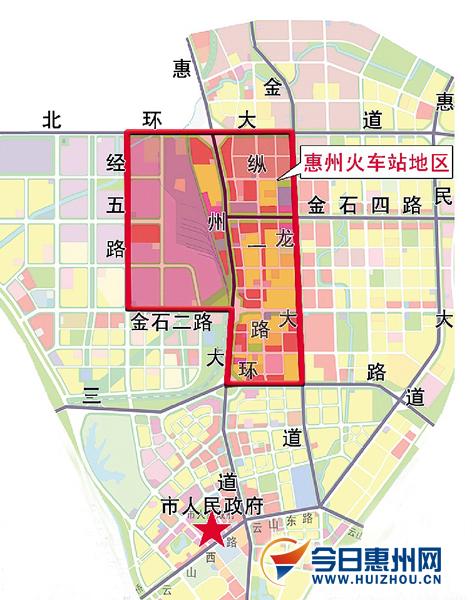 惠州火车站地区区域位置图